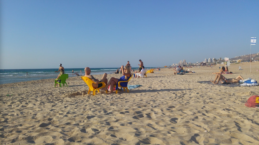 End of the summer Google Karty Google Chrome 2019 10 15 11.16.32 - Пляжи Хайфы. Пляж Студентов. Отзыв